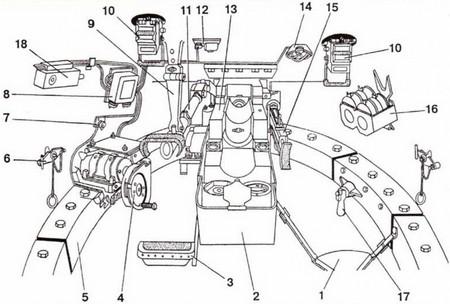 Схема башни танка Т-34-85
