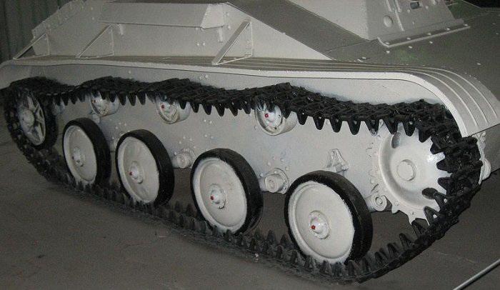 Ходовая часть легкого танка Т-